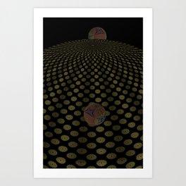 Unfitting Frame Orbitals 6 Art Print