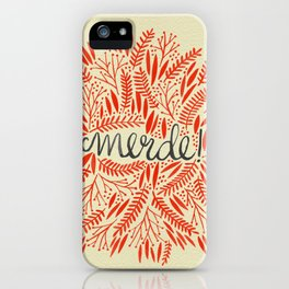 Pardon My French – Red on Cream iPhone Case