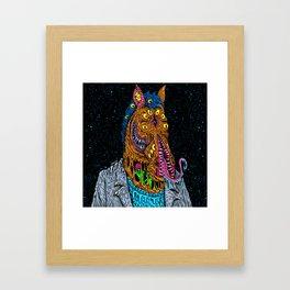Horse  Monster Man Framed Art Print