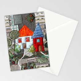 Little house with orange roof Stationery Cards