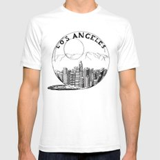 Los Angeles in a glass ball Mens Fitted Tee White SMALL
