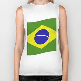 brazil flag Biker Tank