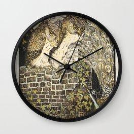 Landschap met poldermolen Het Noorden in polder Het Noorden op Texel (1873-1917) print in high resol Wall Clock