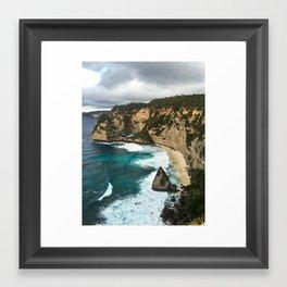 Atuh Beach Framed Art Print