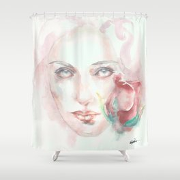 Simple Things Watercolor Shower Curtain
