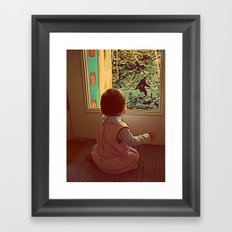 Hello Bigfoot! Framed Art Print