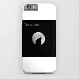 Daughter of the moon wolf version iPhone Case