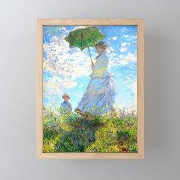 Monet : Woman with a Parasol Framed Mini Art Print