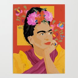 Frida - a colorful mind Poster