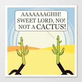 Cactus Juice Logo Canvas Print
