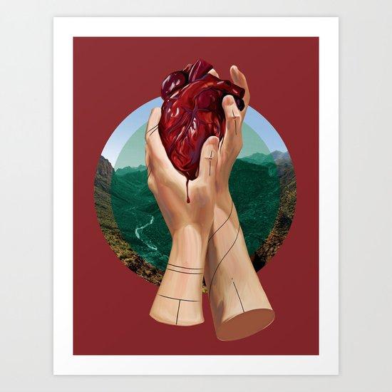 In Its Grip Art Print