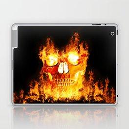 Flaming Skull Laptop & iPad Skin