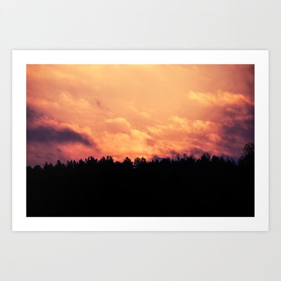 As The Dawn Breaks Art Print