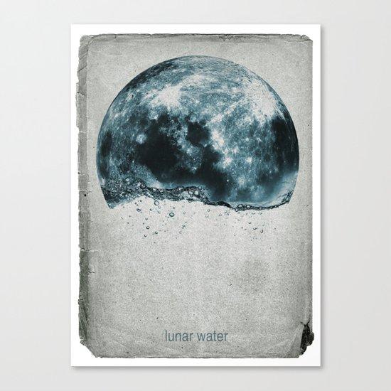 lunar water Canvas Print