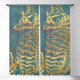 Deep Sea Life Seahorse Blackout Curtain