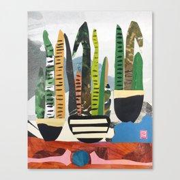 Snake Plant Mountain Canvas Print