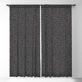 LEOPARD PRINT in Black & Gray / Collection : Leopard spots – Punk Rock Animal Print Blackout Curtain
