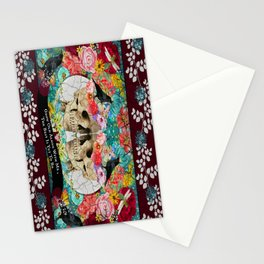 Roses Sugar Skull Couple, Always Kiss Me Goodnight Stationery Cards