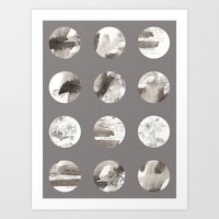 moon phases Art Prints featuring Moon phases by Dreamy Me