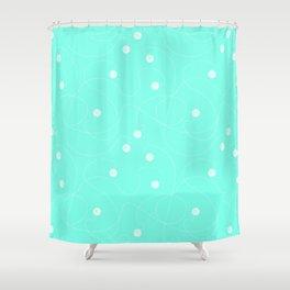 Playful Azul Shower Curtain