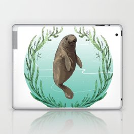 West Indian Manatee in Eel Grass Wreath Laptop & iPad Skin