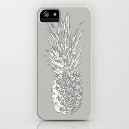 Grey pineapple iPhone Case