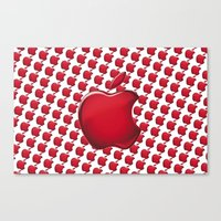 apple Canvas Prints featuring Apple by JT Digital Art