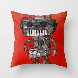 Musicbot Throw Pillow