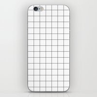 grid iPhone & iPod Skins featuring grid by 550am
