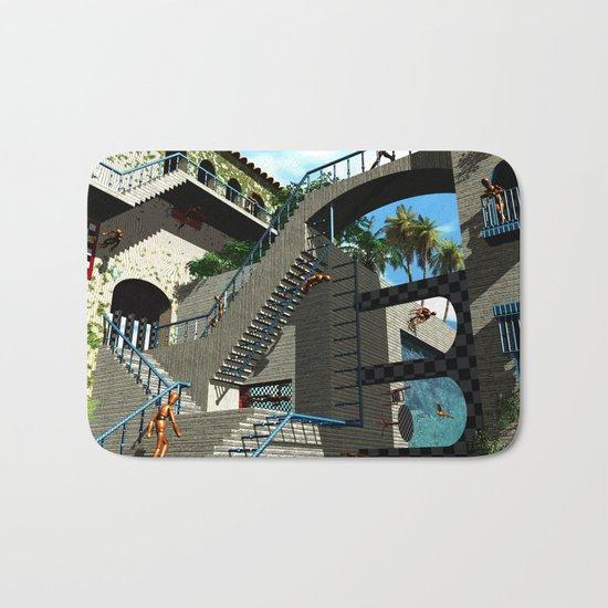 Optical Illusion - Tribute to Escher Bath Mat