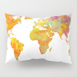 world map 23 Pillow Sham