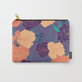 Purple Orange Anemone Carry-All Pouch