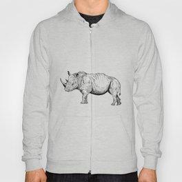 Rhino (Line drawing) Hoody