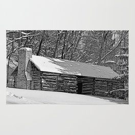 Cabin in the Snow Rug