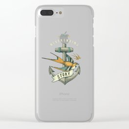 Anchor | Petrol Grey Clear iPhone Case