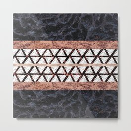 Merble Geometric Triangle Pattern Metal Print