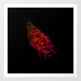 Fantastical Phosphorescent Foxglove Art Print