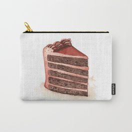 Chocolate Layer Cake Slice Carry-All Pouch