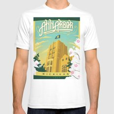 Ann Arbor Union 2X-LARGE Mens Fitted Tee White
