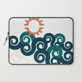 sun in a beach Laptop Sleeve