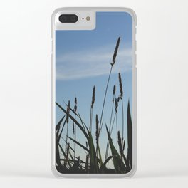 Green reeds large leaves Clear iPhone Case