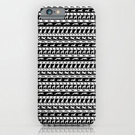 Greyt Grey Rows iPhone Case