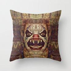 Satanic Clown Throw Pillow