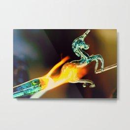 Burning Glass Metal Print
