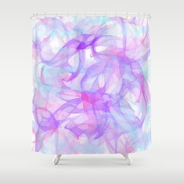 Soft Veils Of Color Abstract Shower Curtain