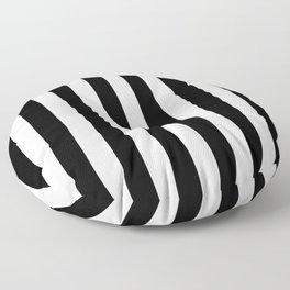 Parisian Black & White Stripes (vertical) Floor Pillow