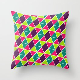 Berry Geo Triangles Throw Pillow