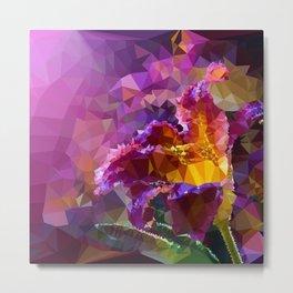 Violet geometric flower Metal Print