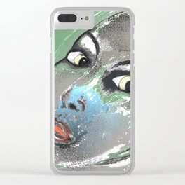Lady Green Clear iPhone Case