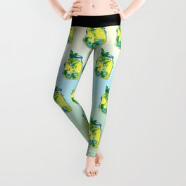 Watercolor - Iced Lemon Mint Tea Leggings